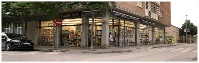 Storefront of the Llibreria Carlemany, Girona