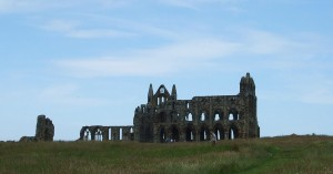 Skyline showing the ruins of Whitby Abbey from the carpark