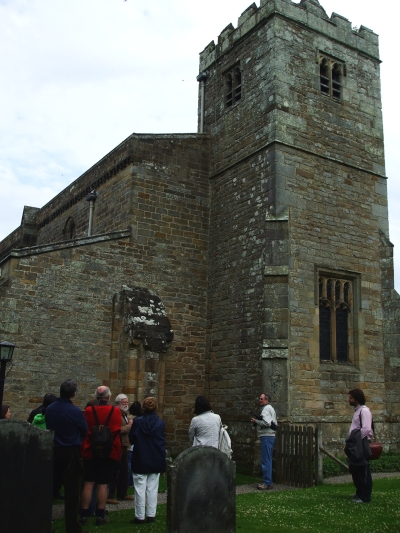 North-west corner and tower of St Mary's Lastingham