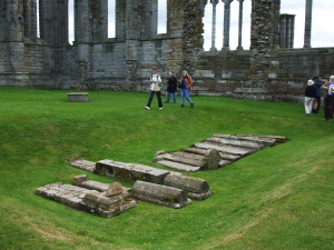 Graves in one of the side chapels of Whitby abbey