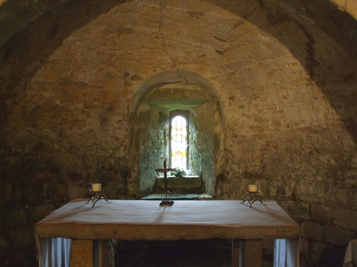 Altar in the crypt of St Mary's Lastingham
