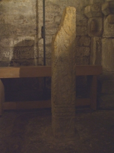 Carved stone in the crypt of St Mary's Lastingham