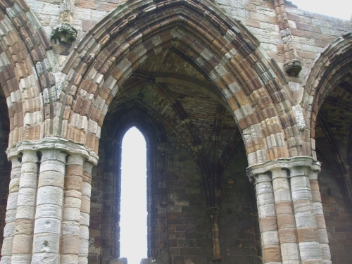 Detail of vaulting in the north nave of Whitby Abbey