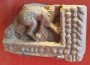 Sculpture fragment found in excavations at Whitby Abbey