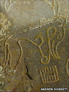 The Pictish beast symbol found on a carved stone in the Black Isle by Isobel Henderson