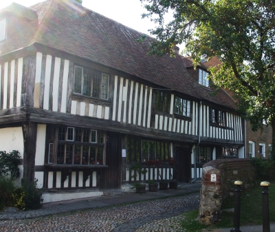 Actually-Tudor house with thatched roof in Rye, Sussex