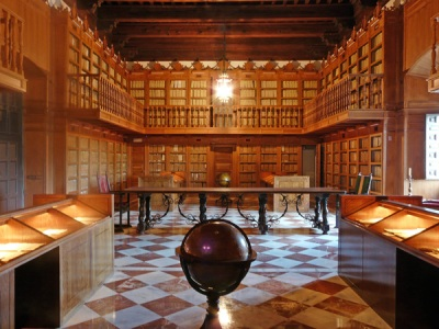 Interior of the Hospital de Tavera in Toledo, home of the Archivo Ducal de la Casa de Medinaceli