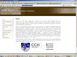 Screen capture of ASChart project homepage