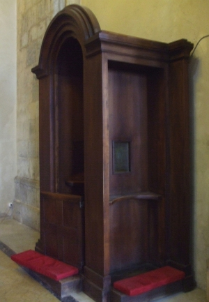 Exposed confessional at Santa Chiara, Naples