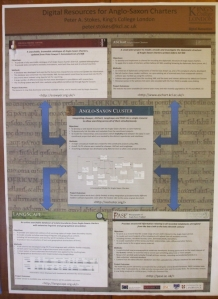 Poster for the Anglo-Saxon Cluster Project at the Department of Digital Humanities, King's College London