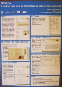 Poster for MOM-CA, A Virtual and Collaborative Research Environment