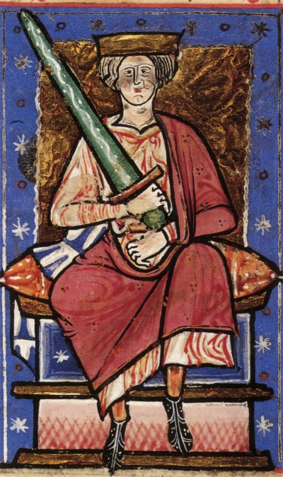 Thirteenth-century portrait of Æthelred the Unready from the Abingdon Chronicle