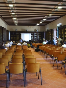 Conference chamber in the rooms of the Società Napoletana di Storia Patria, Castel Nuovo, Naples