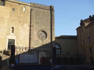 View from the rooms of the Società Napoletana di Storia Patria, Castel Nuovo, Naples