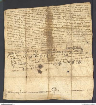 Archivo de la Corona de Aragón, Cancilleria, Pergamins Wifredo I 8