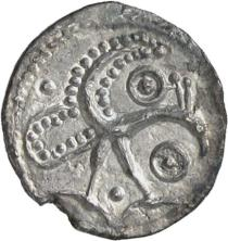 Silver early penny of Hamwic, unknown date, Fitzwilliam Museum CM.1770-2007, De Wit Collection