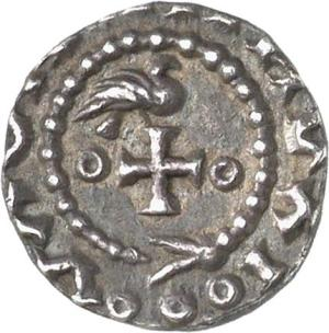 Silver early penny, probably of London, c. 685, Fitzwilliam Museum CM.1580-2007