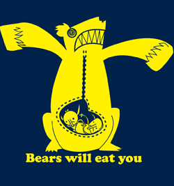 Old Scary-Go-Round `Bears Will Eat You' t-shirt artwork