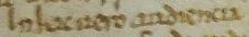 Sample text in Caroline-influenced escritura condal