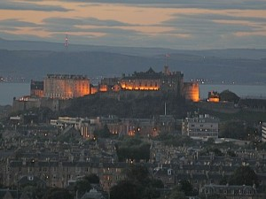 Edinburgh city lights