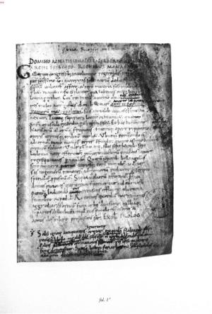 Opening page of the autograph manuscript of Richers Histories, Bamberg, MS Hist. 5