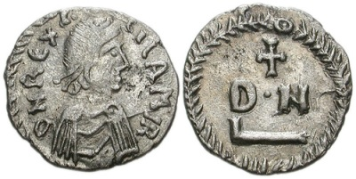 Silver coin of Carthage in the name of King Gelimer, 530x534