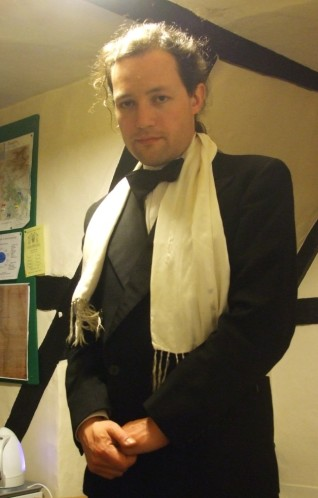 Your humble author Jonathan Jarrett in gratuitous black tie
