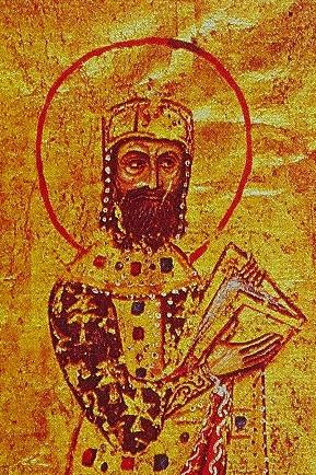 12th-century miniature portrait of Emperor Alexios I Komnenos