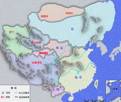 Map of China under the Liao dynasty