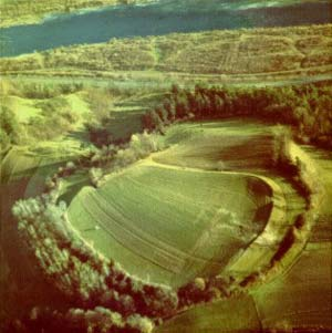Naszacowice hillfort, Southern Poland, from the air