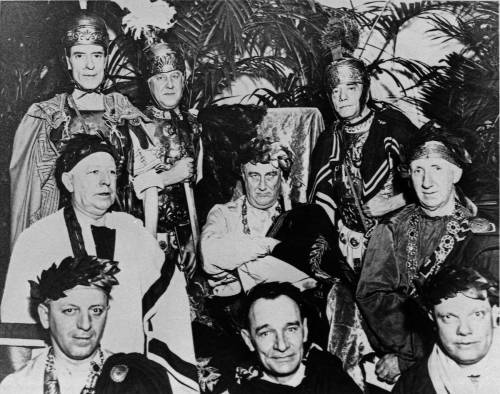 Franklin D. Roosevelt and cabinet attired as Romans for a White House party in 1934