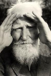 Portrait photograph of George Bernard Shaw