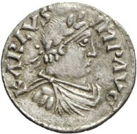 Portrait denarius of Charlemagne as Emperor (812x814)
