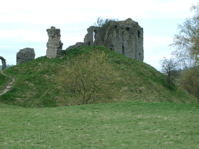 View of Clun Castle