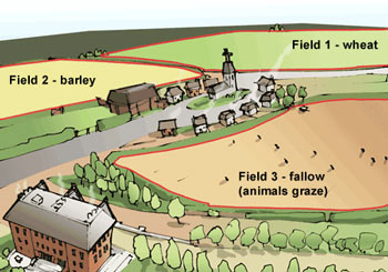 Diagram of a three-field agriculture system