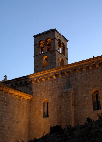Tower of Sant Benet de Bages at evening, from Wikimedia Commons