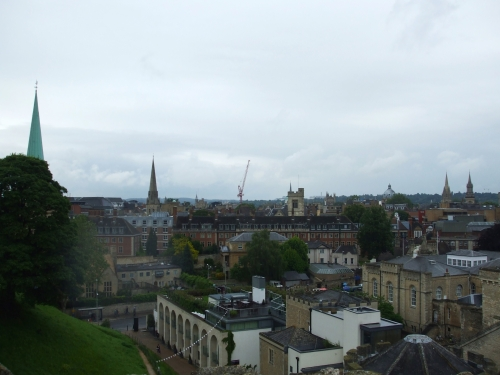 The city of Oxford seen from St George's Tower, Oxford Castle