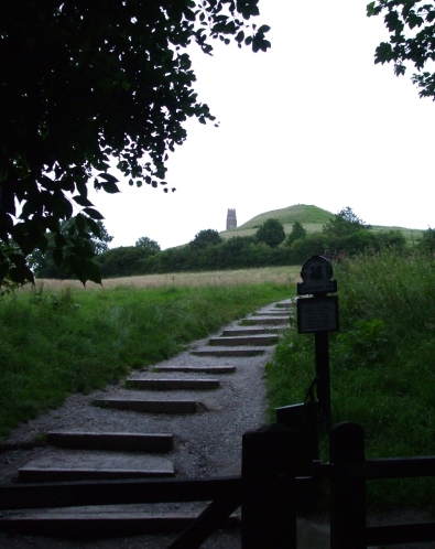 Route up to Glastonbury Tor viewed from bottom of steps