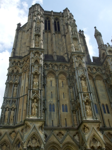 North tower of the west front of Wells Cathedral