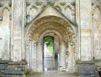 North portal of the Lady Chapel, Glastonbury Abbey