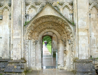 North portal of the Lady Chapel, Glastonbury Abbey
