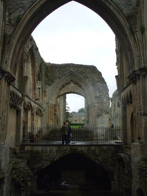 Interior of Lady Chapel, Glastonbury Abbey, looking eastwards