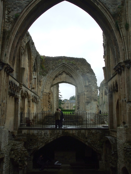 Interior of Lady Chapel, Glastonbury Abbey, looking eastwards