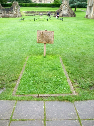 Supposed location of the tomb of King Arthur, Glastonbury Abbey