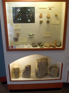 Saxon finds from Glastonbury Abbey in the museum there