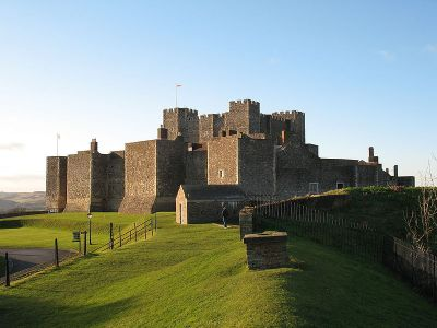 Dover Castle as it now appears, from Wikimedia Commons