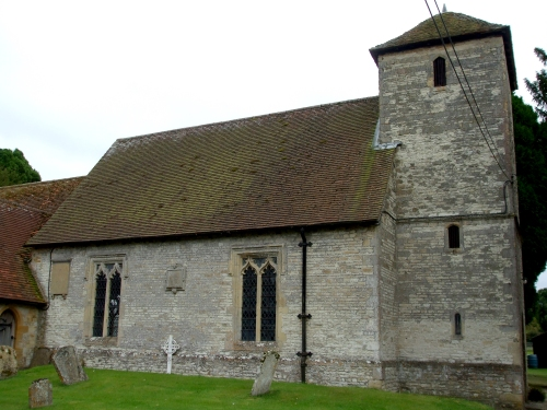 North side of Cuxham church