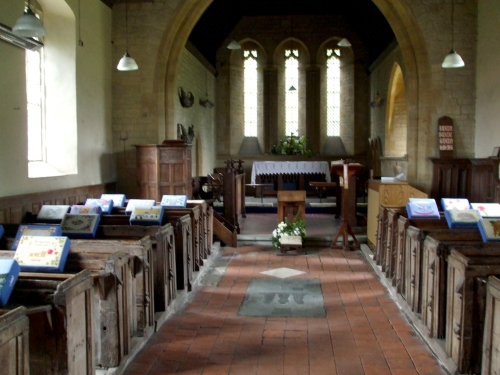 Interior of Cuxham church