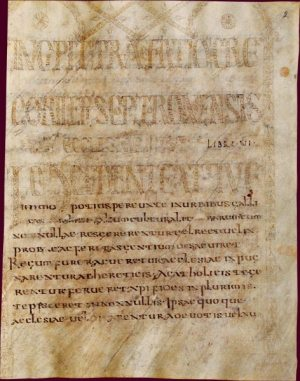 Frontispiece of manuscript of Gregory of Tours's Ten Books of Histories