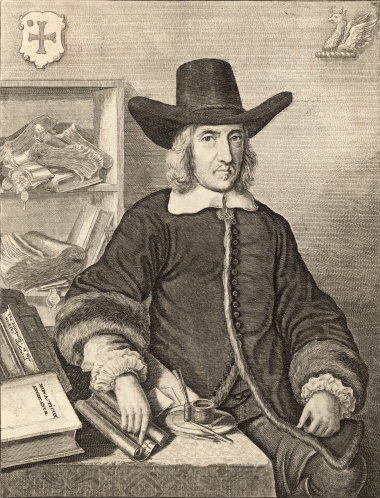 Engraving of William Dugdale in 1656 by Wenceslas Hollar